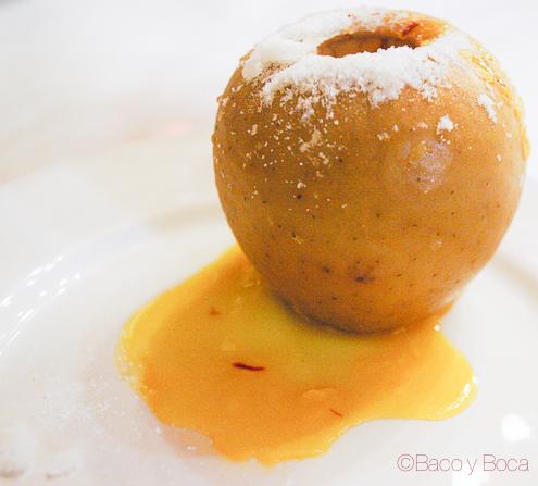 Manzana al horno restaurante alcazaba albarracin 1