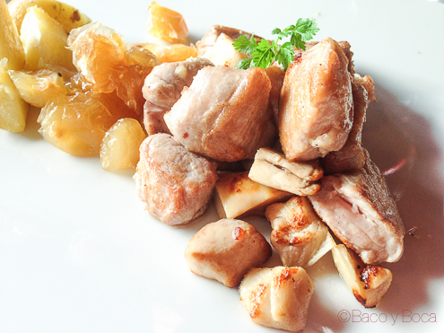 Salteado de solomillo iberico con salsa de foie
