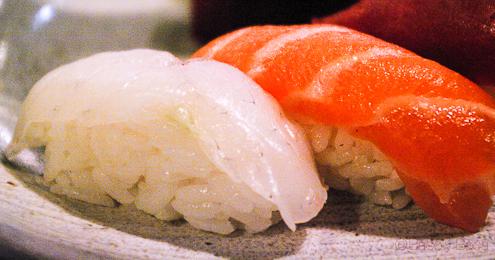 Detalle Nigiri en Bun Sichi restaurante japones barcelona pasaporte time out