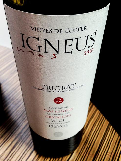 Igneus Priorat Gratallops Zenital en centonze restaurante barcelona