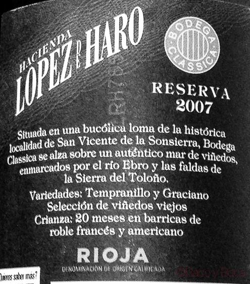Lopez de Haro Reserva 2007 Rioja