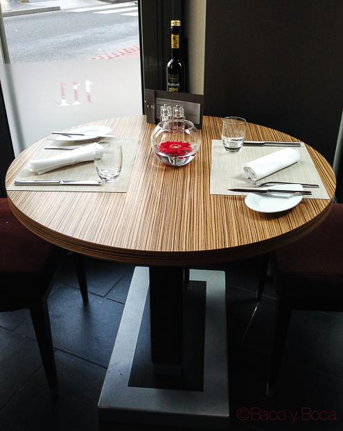 Mesa en centonze restaurante barcelona