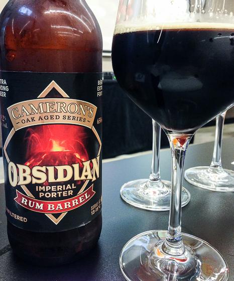 Obsidian cerveza artesana canadiense baco y boca 1