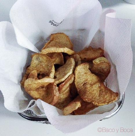 Chips de manzana con canela Orbital Barcelo Sants baco y boca