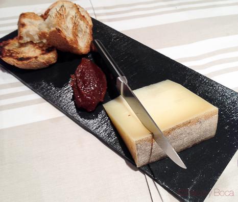 postre queso del menu tolosaldea jornadas bou Sagardi baco y boca