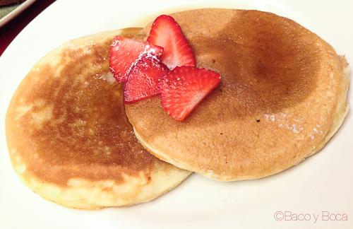 pancake bananas baco y boca
