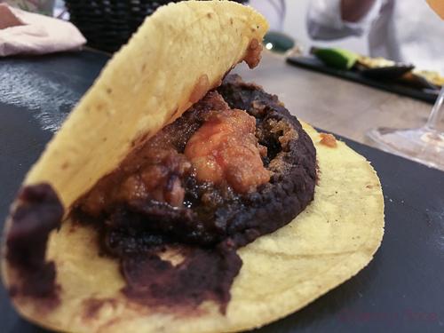taco de camaron Taquiza de Coyo Baco y Boca