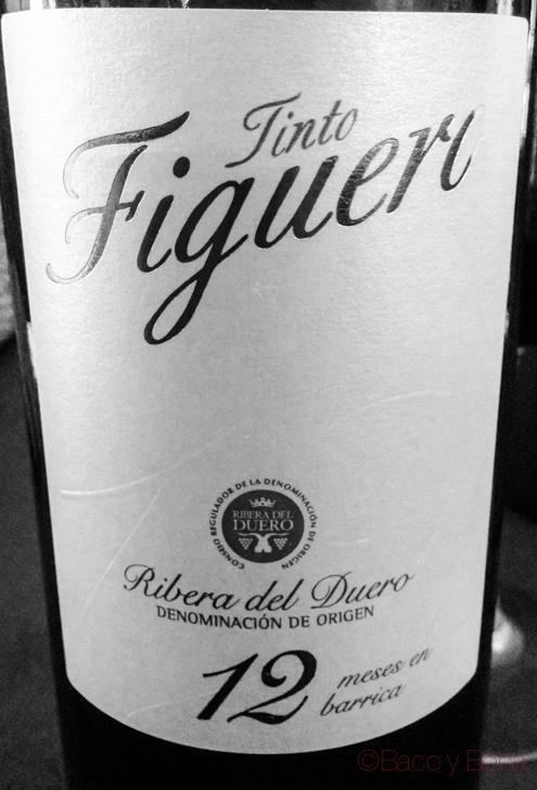 Tinto Figuero DO Ribera de Duero blanco y negro