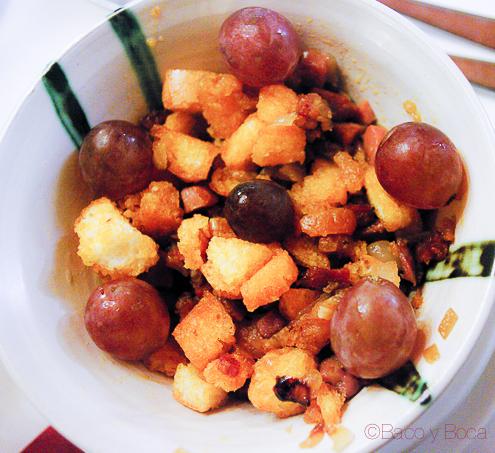 Migas con uvas
