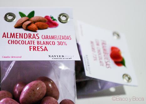 Almendras caramelizadas Chocolatier Xavier Mor Bacoyboca