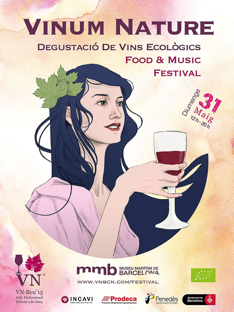Cartel vinum Nature Barcelona bacoyboca