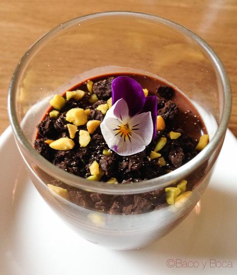 Cremoso de chocolate El Bar Baco y boca