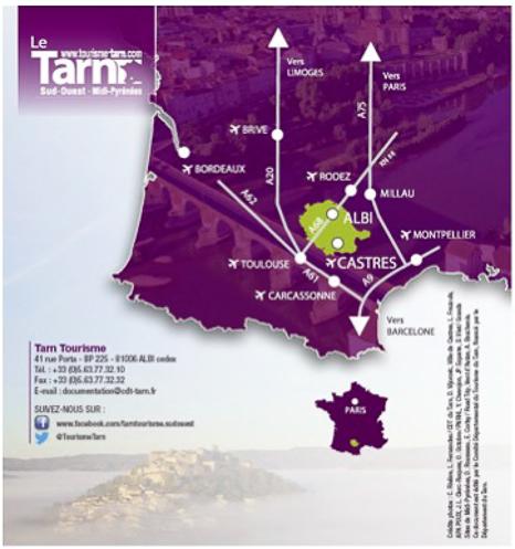 Mapa Le Tarn