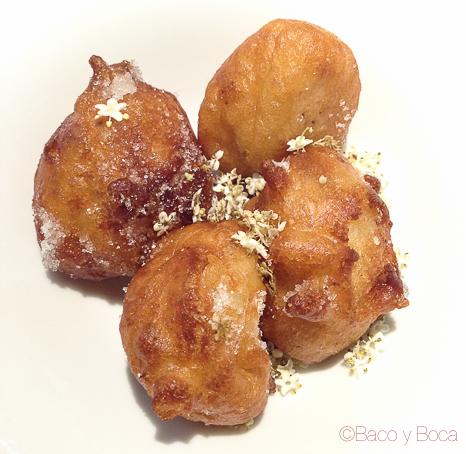 Buñuelos de flor de sauc calendula baco y boca