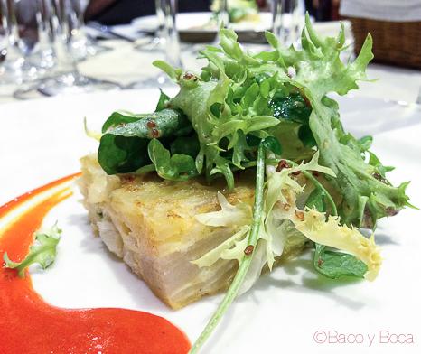 mini tortilla de bacalao maridaje Monte Odina catando somontano baco y boca