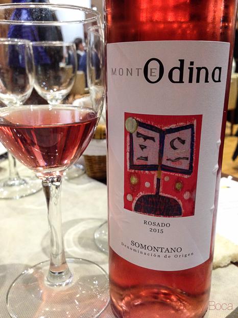 rosado maridaje Monte Odina catando somontano baco y boca