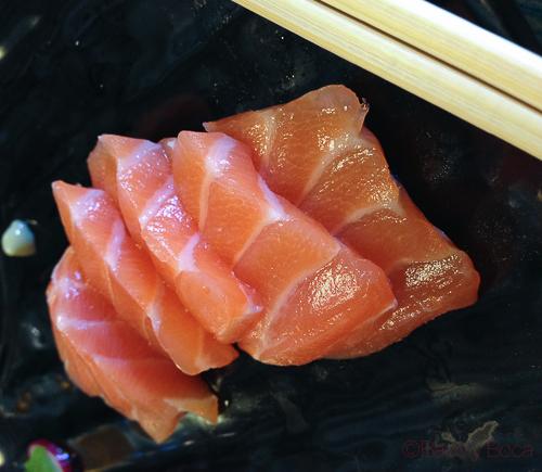 Salmon Joël's Oyster Bar baco y boca