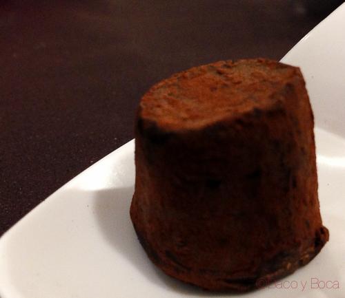 Trufa chocolate maridaje a tres bandas baco y boca