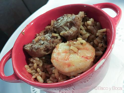 cazoleta de arroz restaurant El Moli dels avis bacoyboca