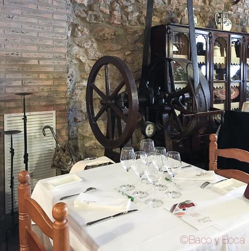 Interior restaurant El Moli dels avis bacoyboca