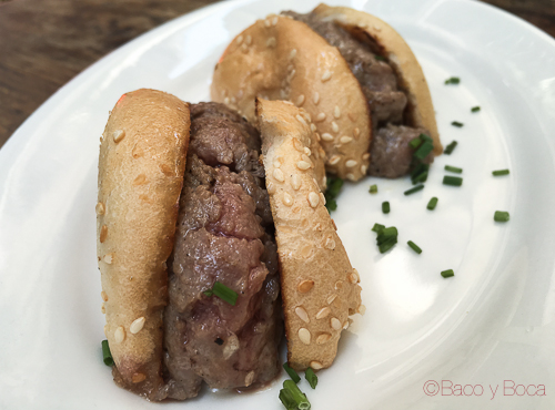 mini hamburguesa Tantarantana Bao y boca